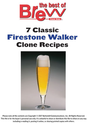Firestone Walker Brewing Co. Clone Package